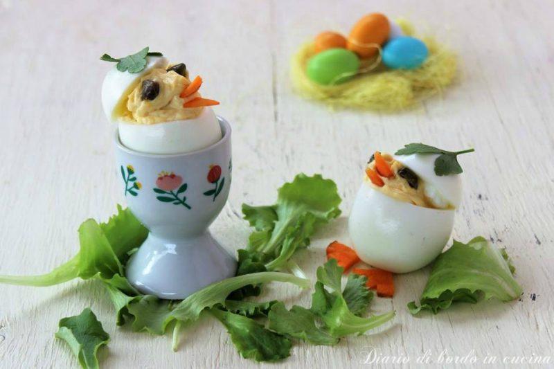 Uova ripiene a pulcino