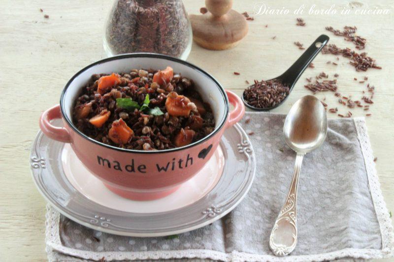 Zuppa di lenticchie con riso rosso