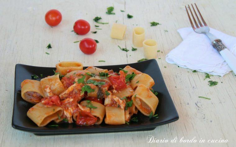 Pasta al sugo di gallinella (coccio) e pomodorini