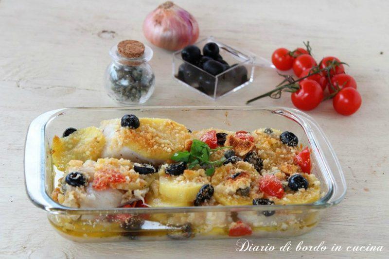 Baccalà gratinato con patate