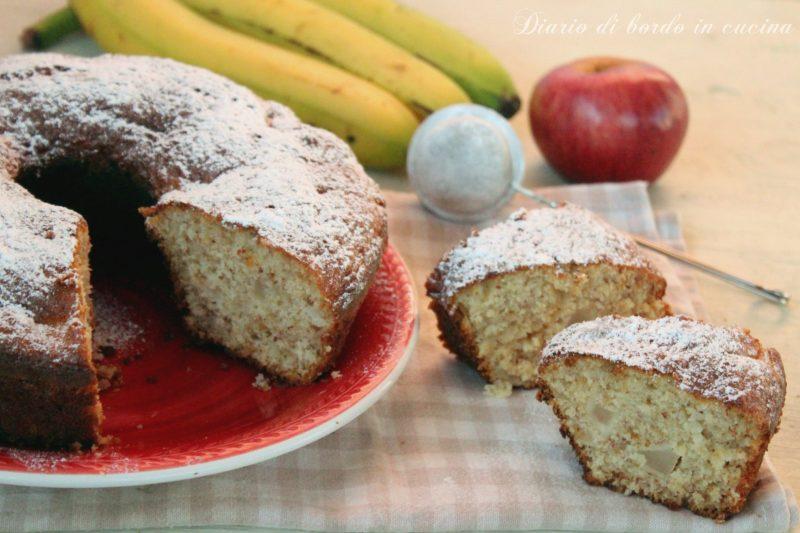 Ciambella banane e mela