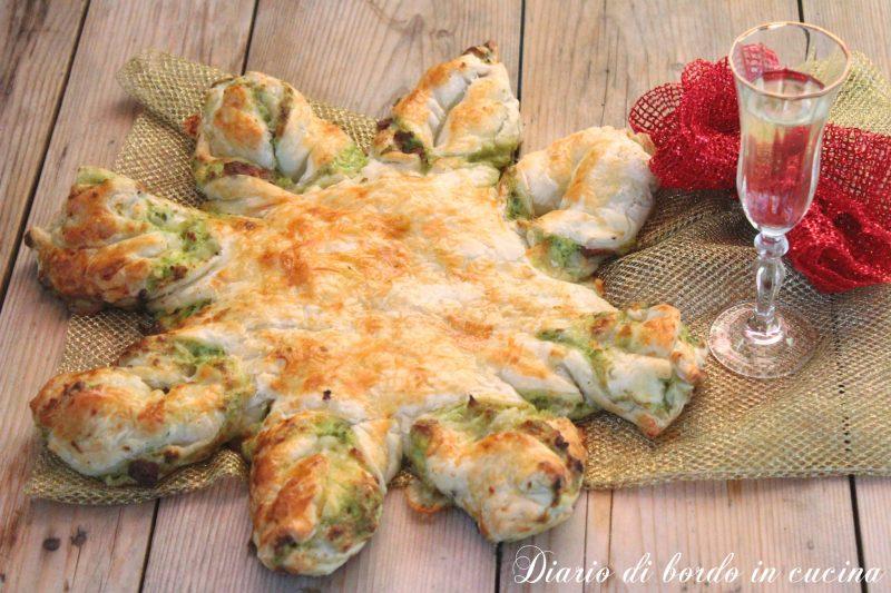 Stella di sfoglia ricotta e broccoli