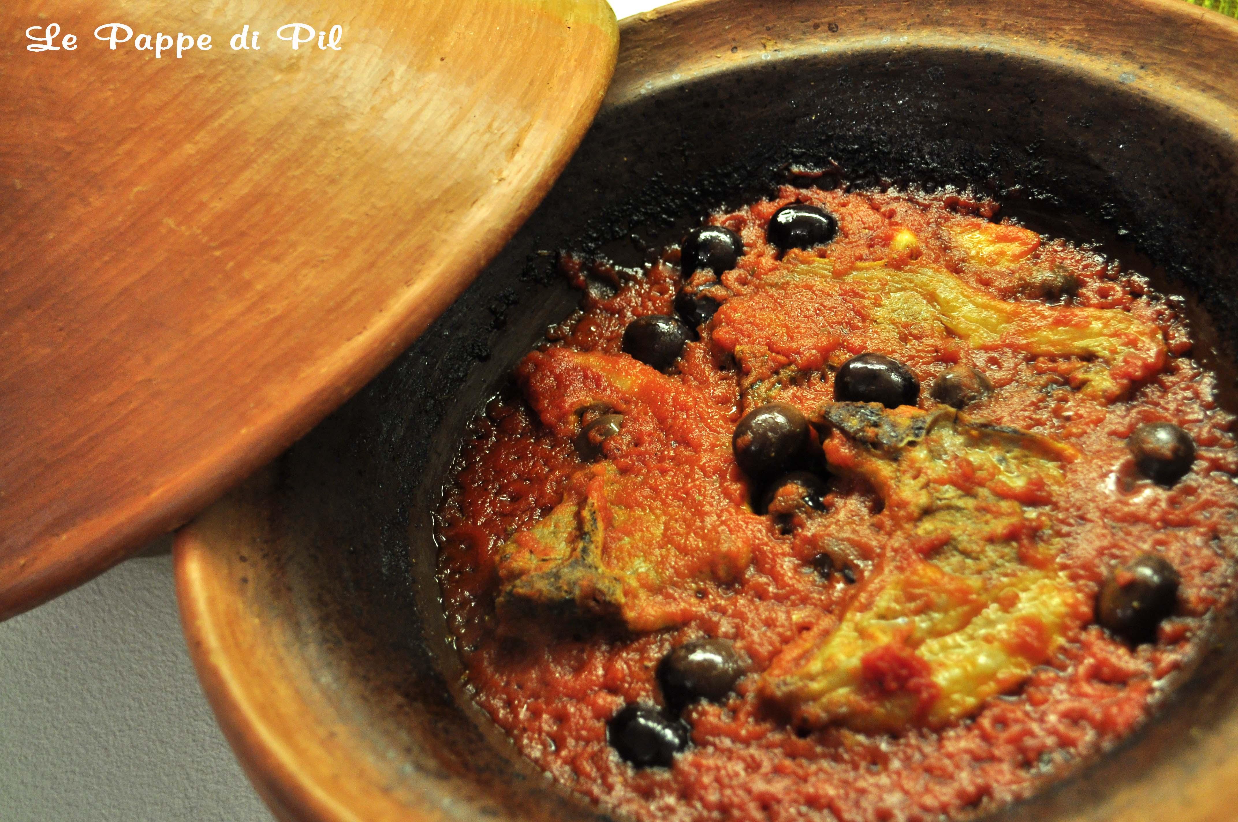 tajine di agnello al pomodoro e olive