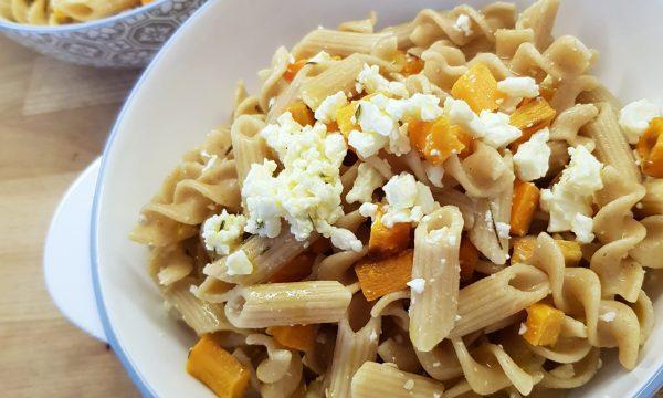 pasta fredda con carote e feta GRECA
