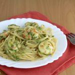 linguine zucchina e gamberetti