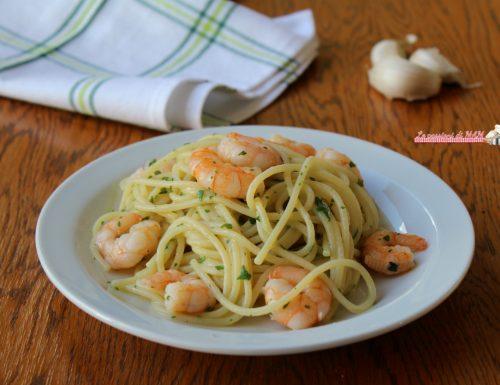 Spaghetti con i gamberetti