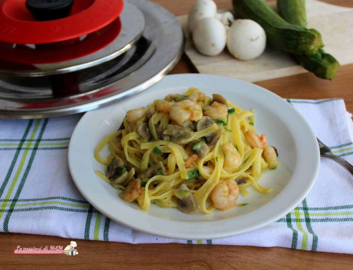 tagliolini mare e monti con magic cooker