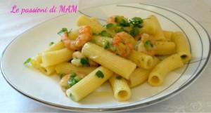 pasta fredda zucchina e gamberi