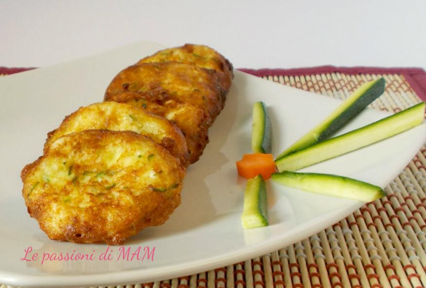frittatine ricotta e zucchine