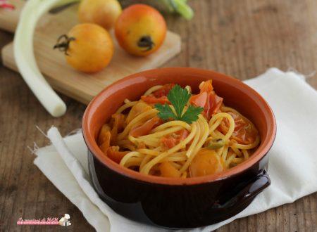 Spaghetti con i pomodori schiattariciati