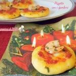 pizzette con i gamberi