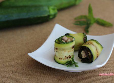 Involtini di zucchine con il tonno