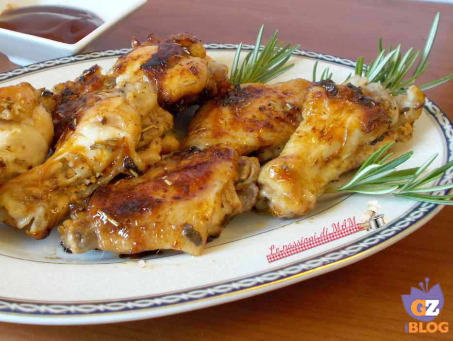 ali di pollo in salsa bbq