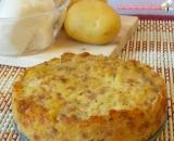 Tortino di patate salsiccia e mozzarella