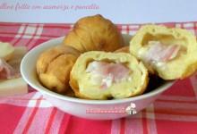 Palline fritte con scamorza e pancetta