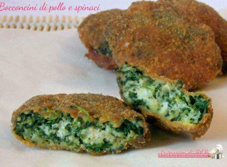 Bocconcini di pollo e spinaci
