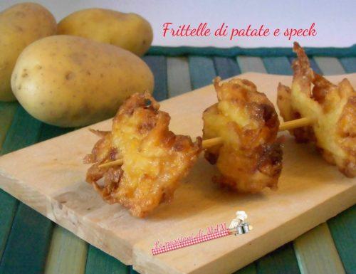 Frittelle di patate e speck