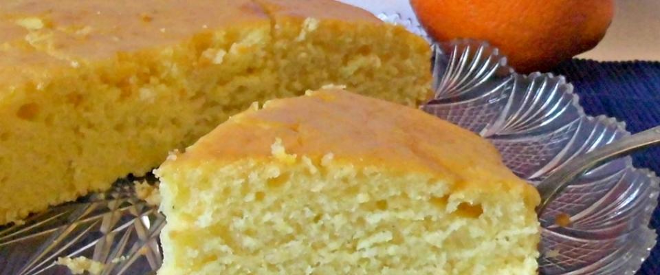 torta all'arancia senza uova