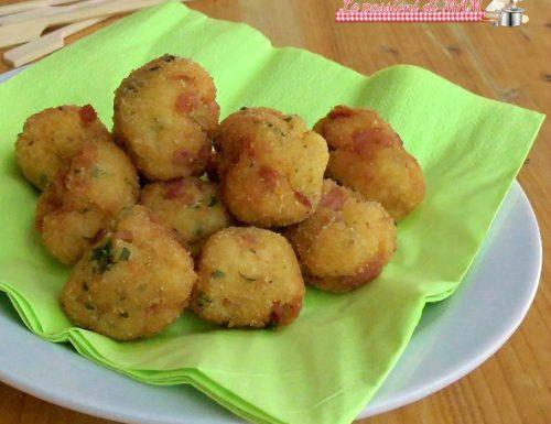 Polpette di patate e prosciutto cotto