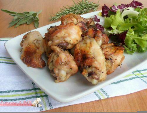 Ali di pollo nel Fornetto Versilia