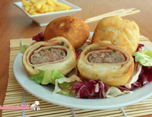 Palline fritte con polpette e pancetta