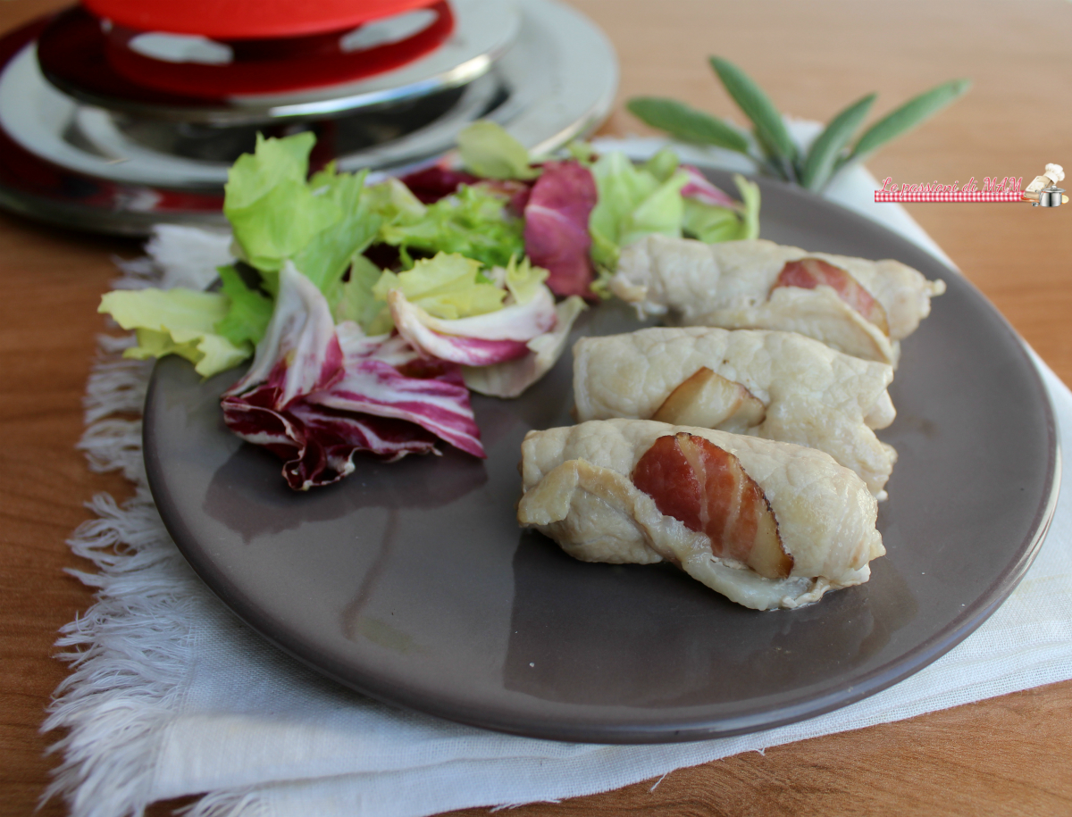 Involtini di lonza e pancetta con Magic Cooker