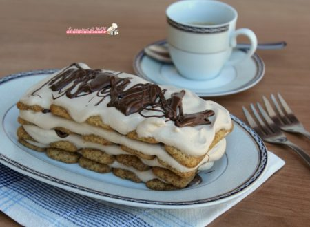 Mattonella di biscotti al caffè e nutella