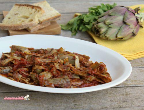 Carciofi al pomodoro olive e capperi