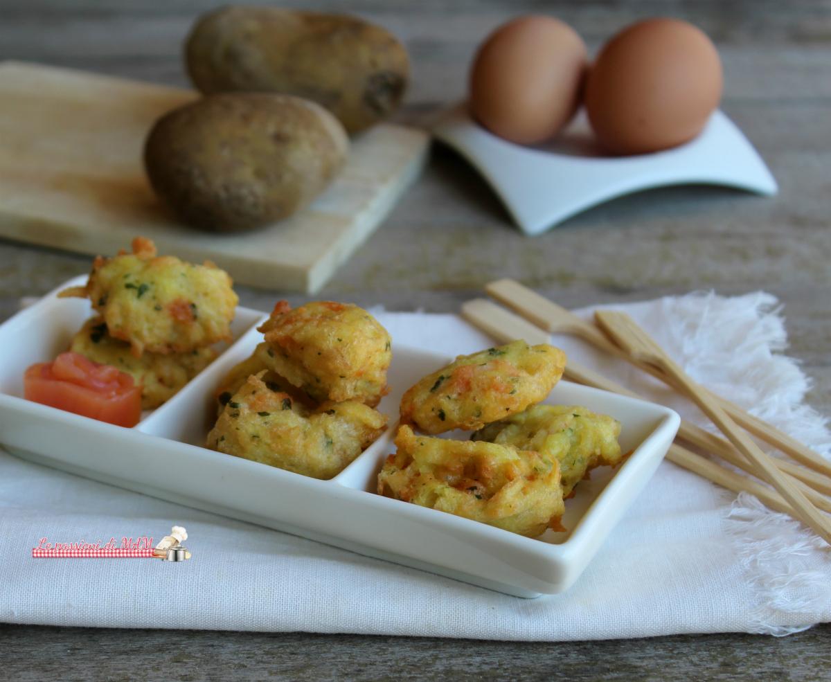 Frittelle di patate e salmone affumicato