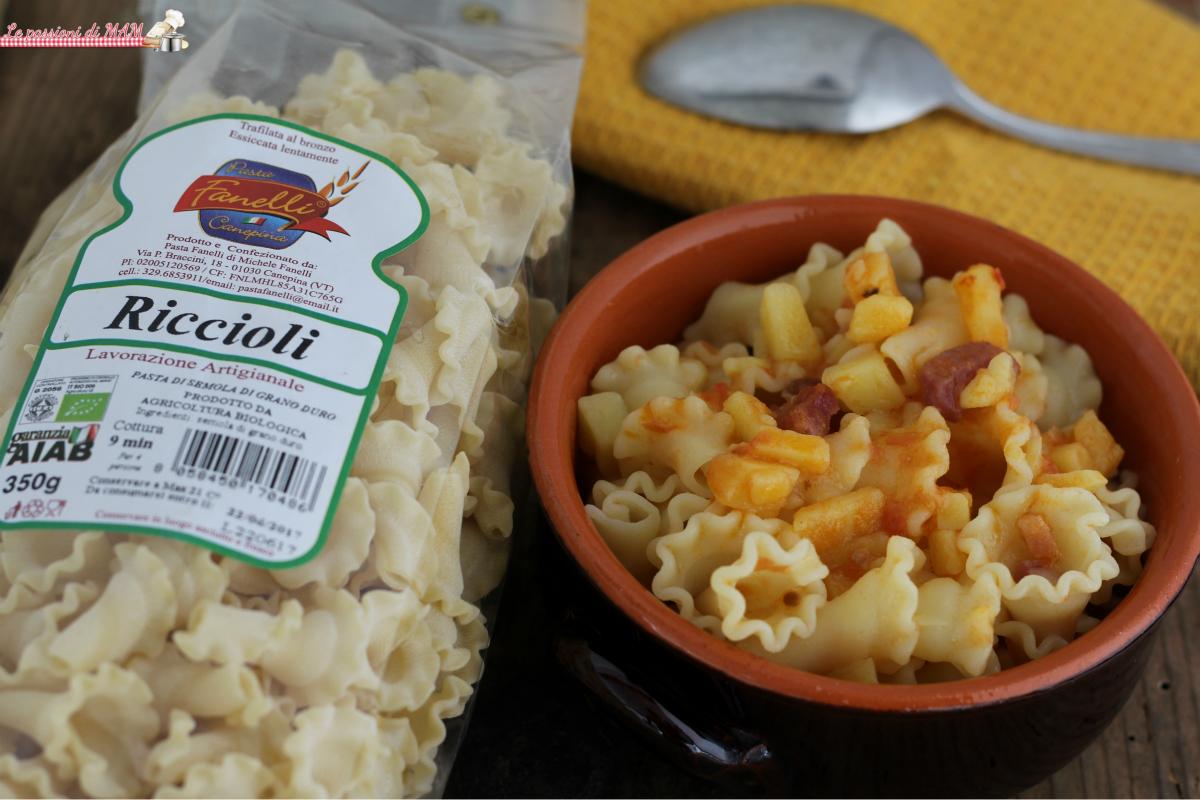 pasta patate e pancetta fanelli