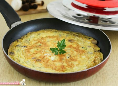 Frittata ai funghi con Magic Cooker