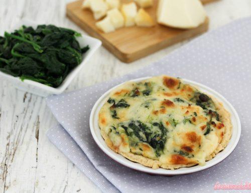 Torta salata con spinaci e scamorza affumicata