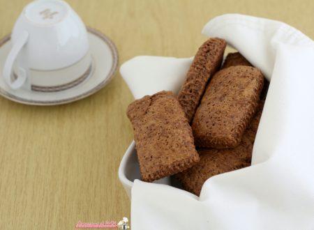 Pastarelle al cacao, biscotti da inzuppo