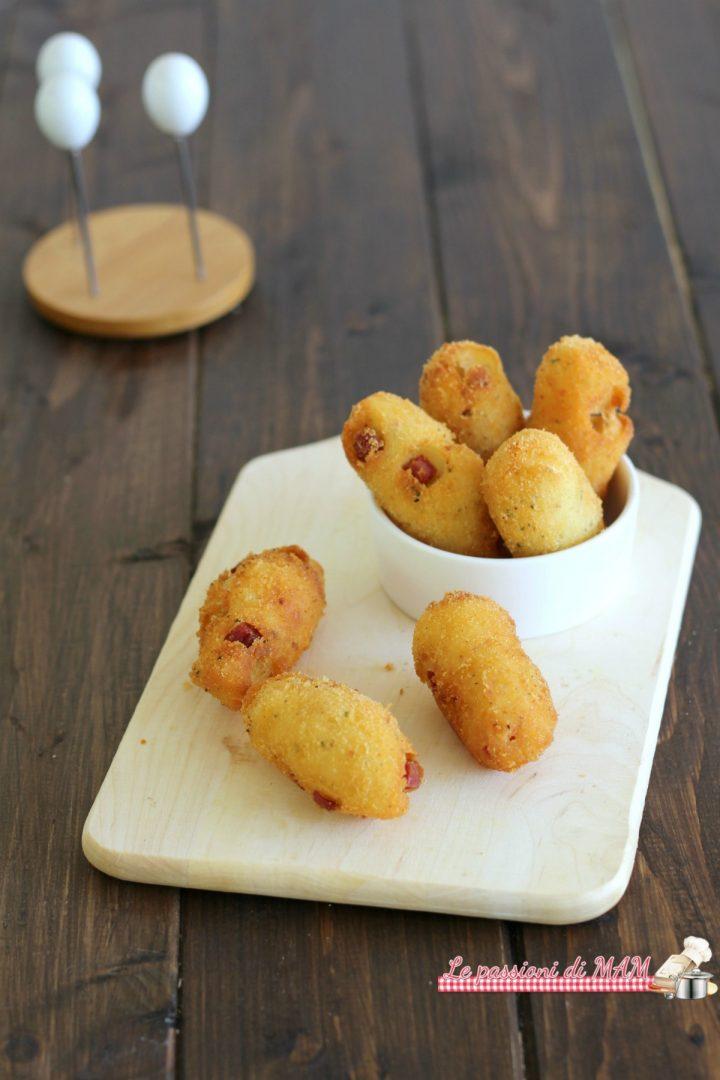 crocchette di patate e prosciutto cotto