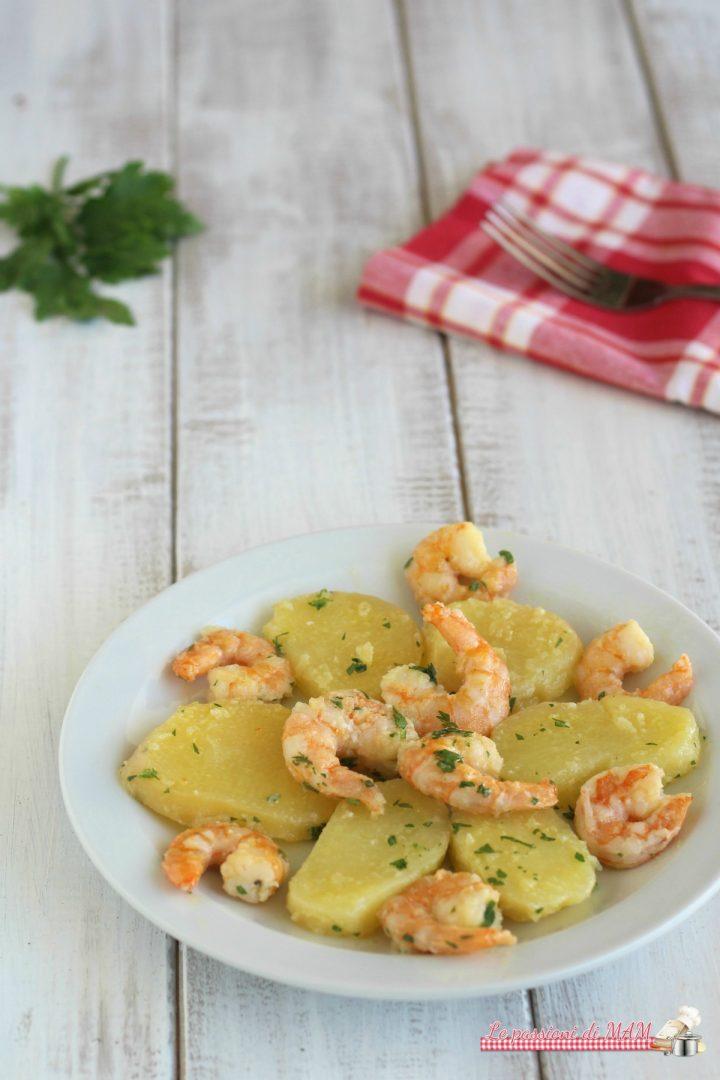 insalata di patate e gamberi