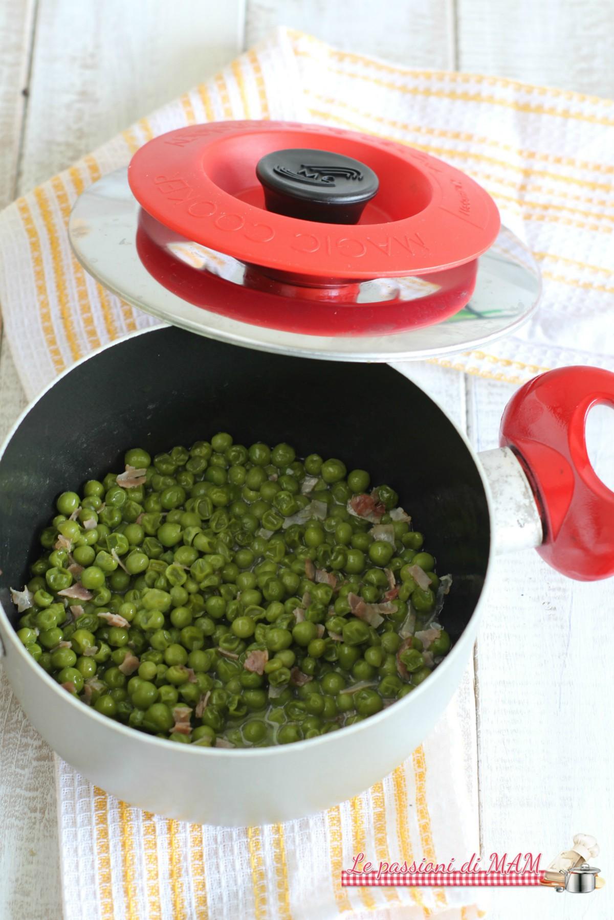 piselli verdi con Magic Cooker