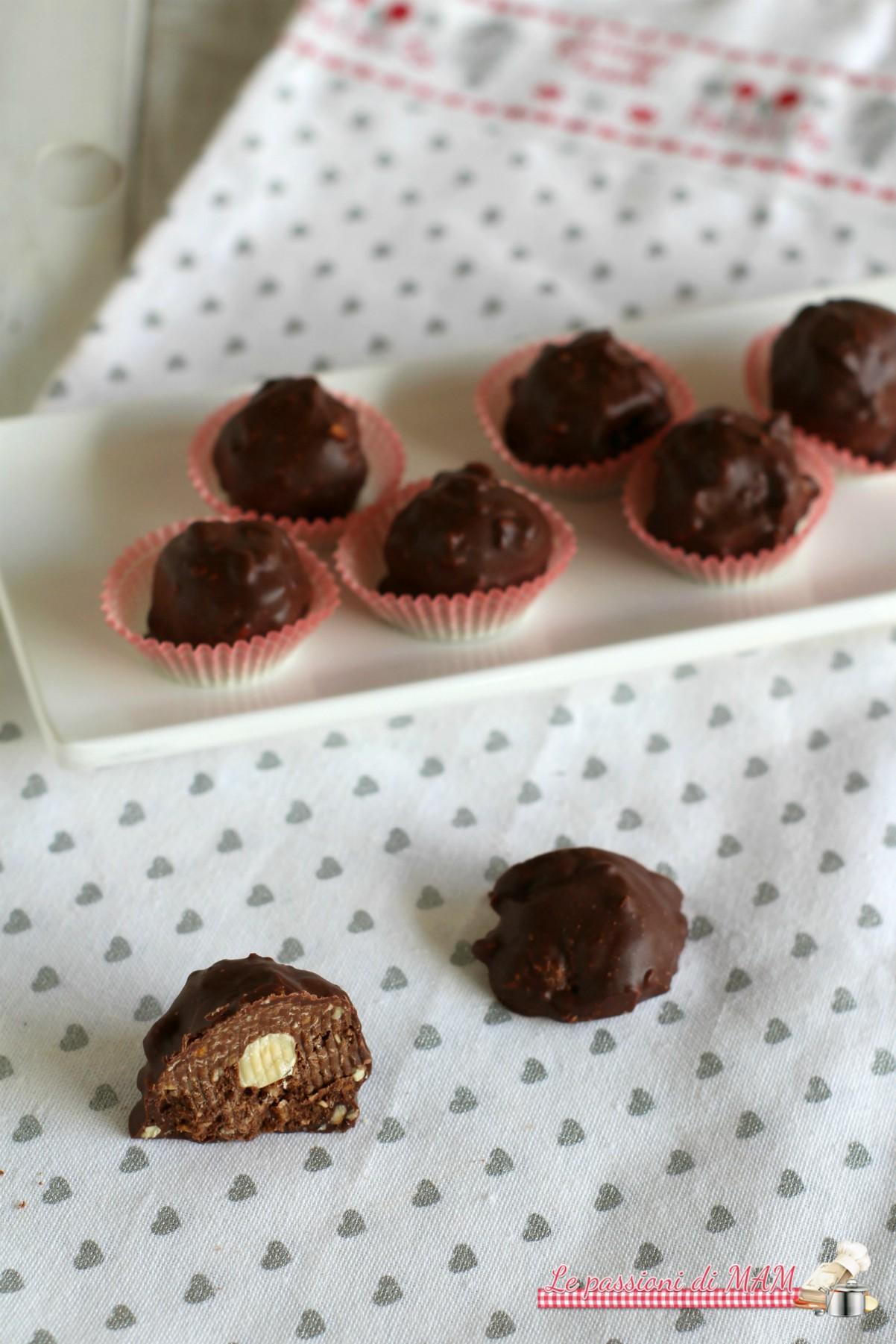 cioccolatini wafer e nutella