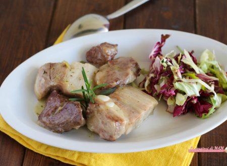 Spezzatino di maiale in bianco
