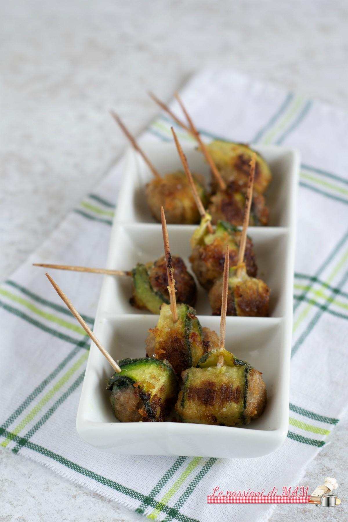 Mini Involtini di Zucchina e Salsiccia