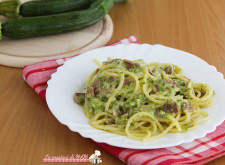 Simil carbonara di zucchina e speck