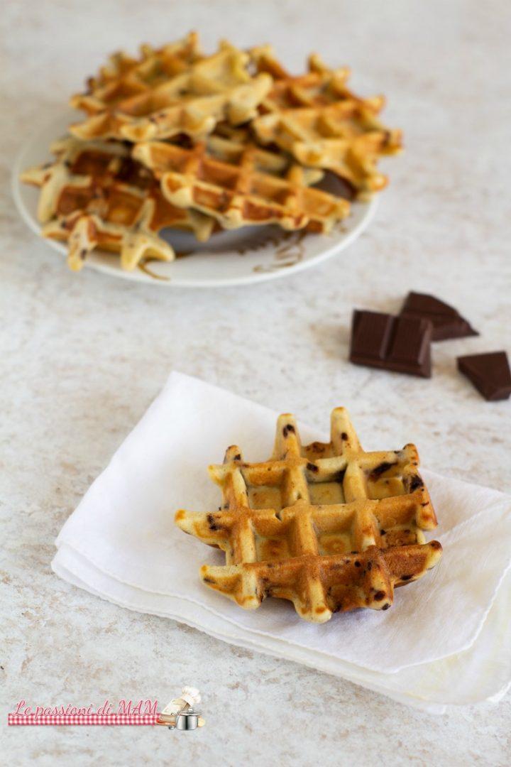 Galette belghe con pezzi di cioccolato