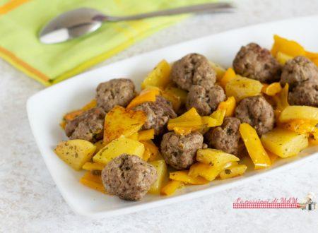 Polpette con peperoni e patate