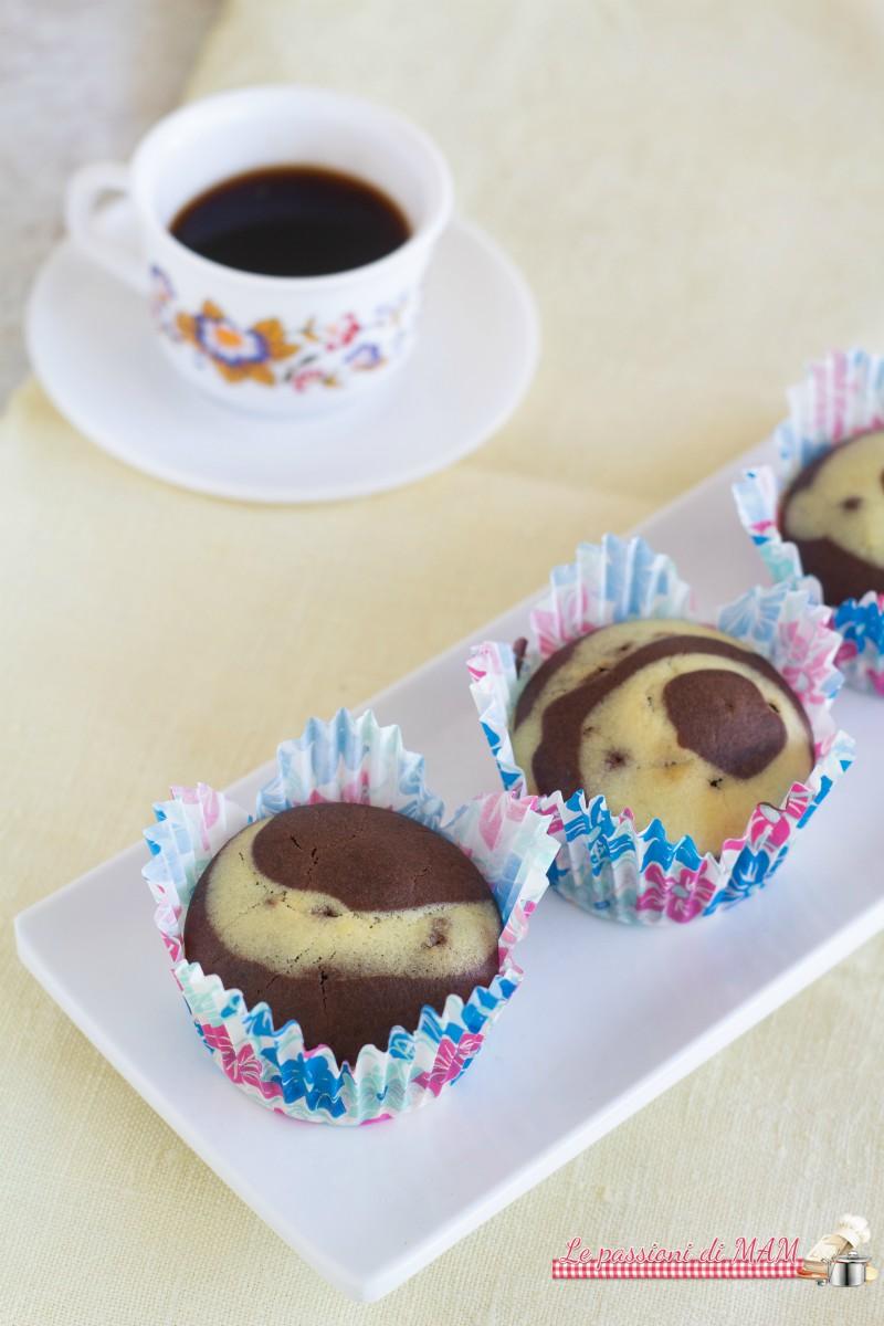 Muffin marmorizzati all'acqua