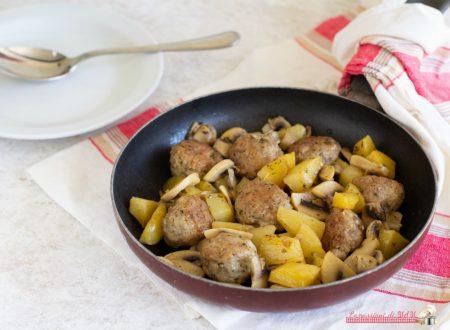 Polpette con funghi e patate
