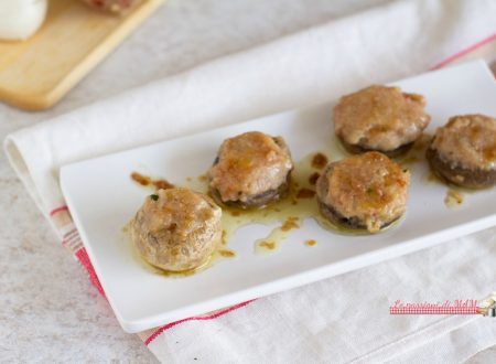 Funghi ripieni di salsiccia e patate
