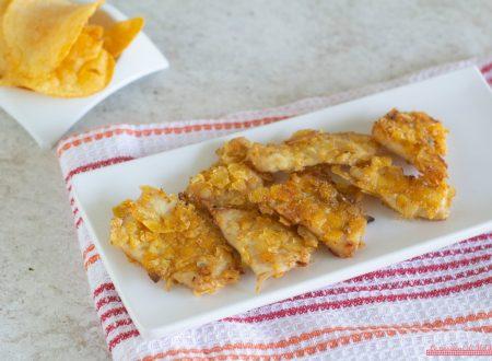 Bocconcini di pollo e patatine