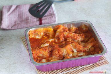 Lasagne con salsiccia e scamorza