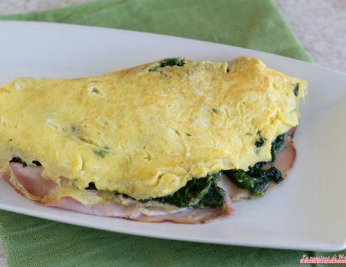 Omelette con spinaci e porchetta arrosto