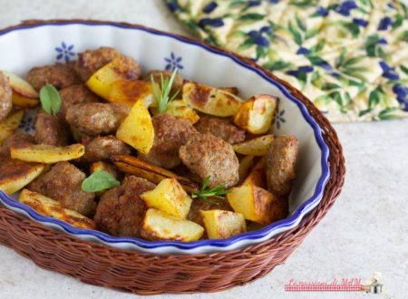 Schiacciatine e patate al forno