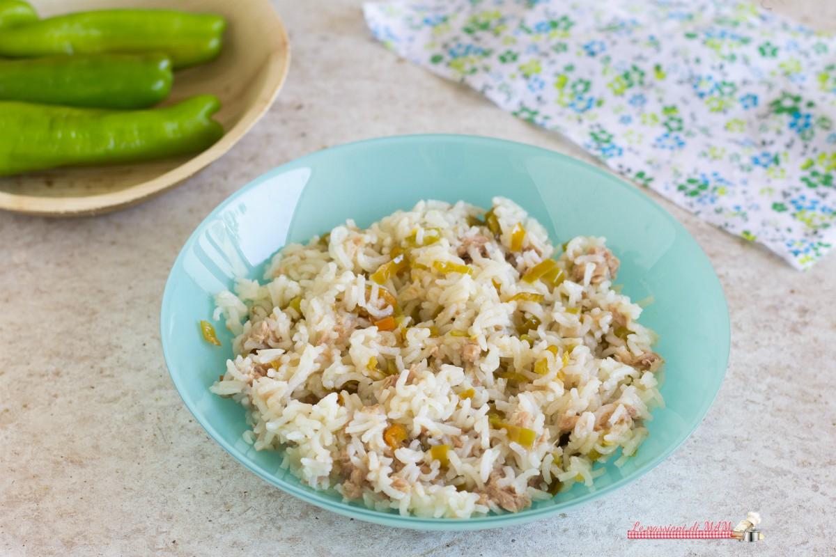 Insalata di riso con tonno e peperoni